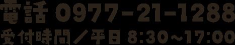 〒874-0919 大分県別府市石垣東3丁目7-33 TEL:0977-21-1288